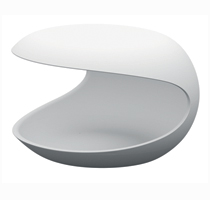Zanotta White Shell Occasional Night Table - Featured Image