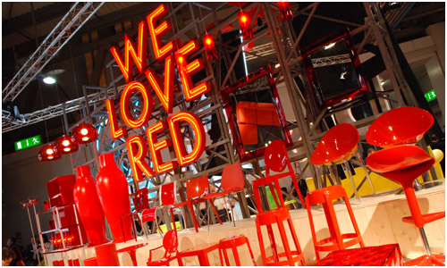 Kartell booth at the Salone del Mobile