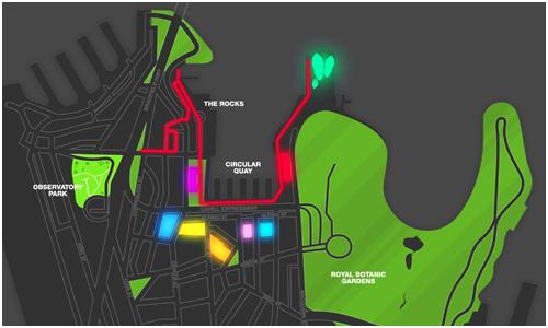 Vivid Sydney Festival Map