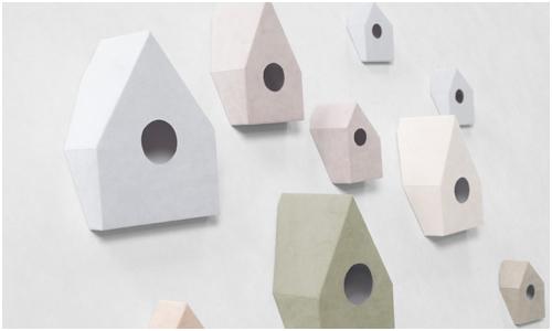 Nonslip Alcantara Birdhouse by Nendo