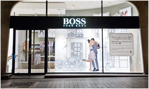 Hugo Boss Love Story Paris Store