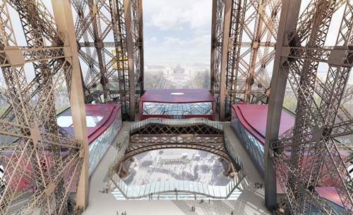 Designswelove the eiffel tower 39 s first floor to receive for Lift furniture to second floor