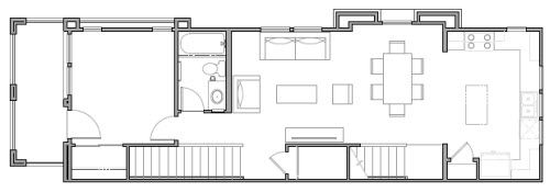 Home Space Layout with Furniture