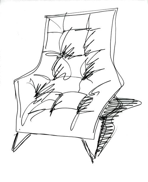Maserati Leather Lounge Chair by Zanotta