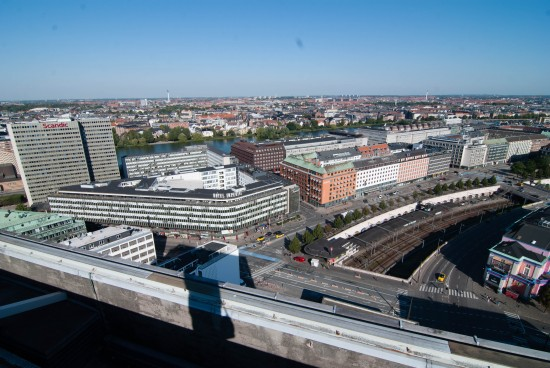View from the rooftop of the Radisson Blu Royal Hotel Copenhagen.