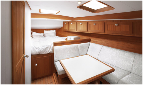 Lower deck finishes for the Firmship 42 luxury boat