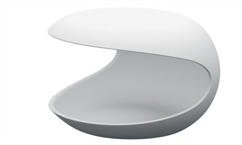 Zanotta White Shell Occasional Night Table