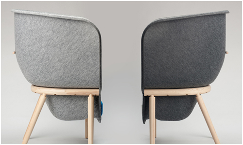 Pod chair by Benjamin Hubert