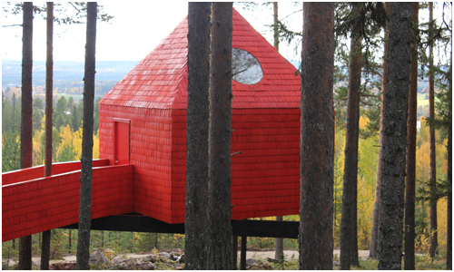 Treehouse, Sweden - Blue Cone