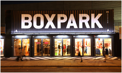 Boxpark Pop-up Mall, London