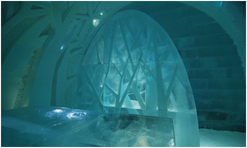 Icehotel forest of trees