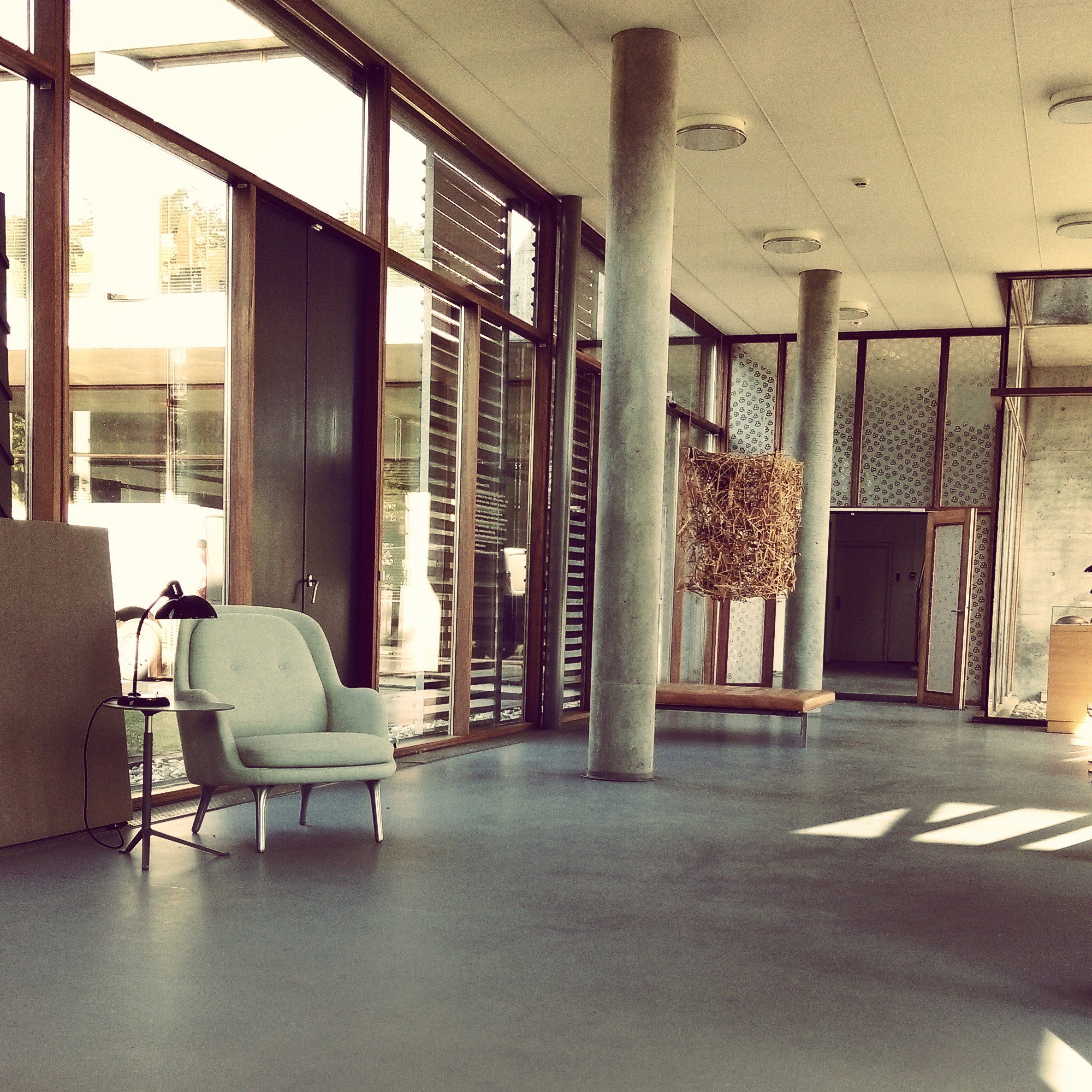 Lobby at Fritz Hansen's offices.