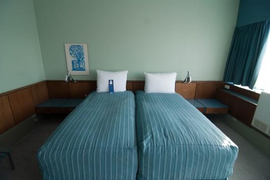 Beds inside Room 606 at the Radisson Blu Royal Hotel Copenhagen.