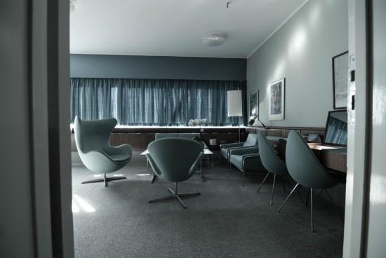 Seating inside Room 606 at the Radisson Blu Royal Hotel Copenhagen.