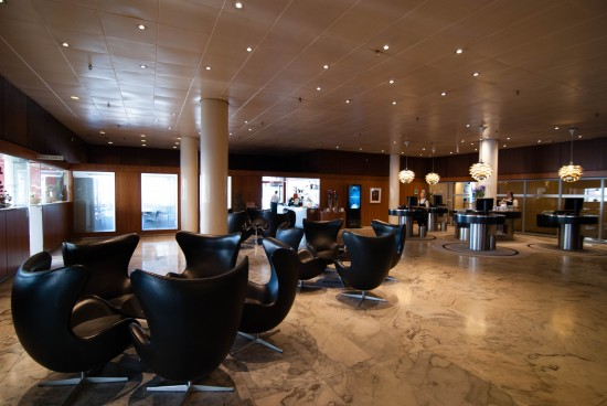 Lobby of the Radisson Blu Royal Hotel Copenhagen.